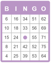 picture about Printable Bingo Numbers 1-75 named No cost bingo card 75