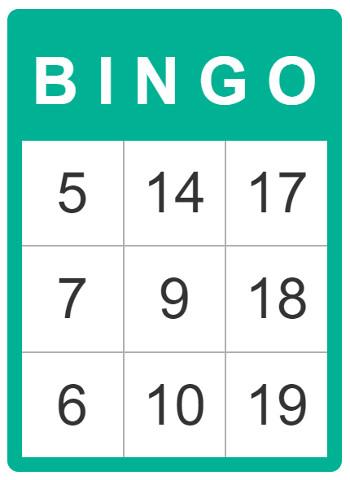 how to print a 20 ball bingo card