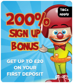 bingola gives a 200 bonus on your first deposit