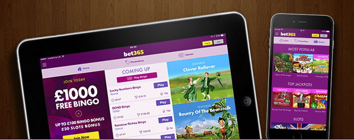 play the bingo on youre mobile or tablet at bet 365 bingo
