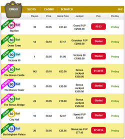 snappy bingo is offering a range of bingo games to enjoy