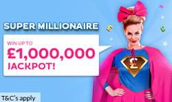 win up to 1000000 pound in the super millionaire from gossip bingo and be a millionaire