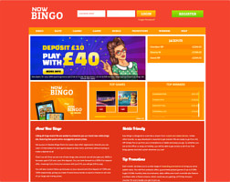 at the website of now bingo you can enjoy the finest bingo