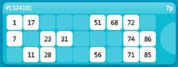 bingo cards in the moon bingo app
